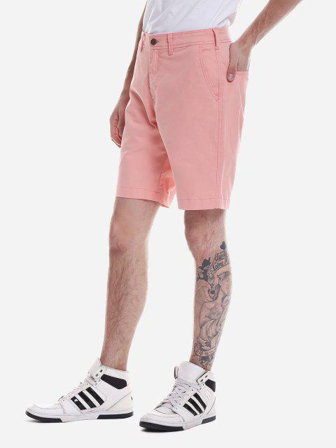 ZANSTYLE Pantalones Cortos con Cremallera - Naranja Rosa 31 Mobile
