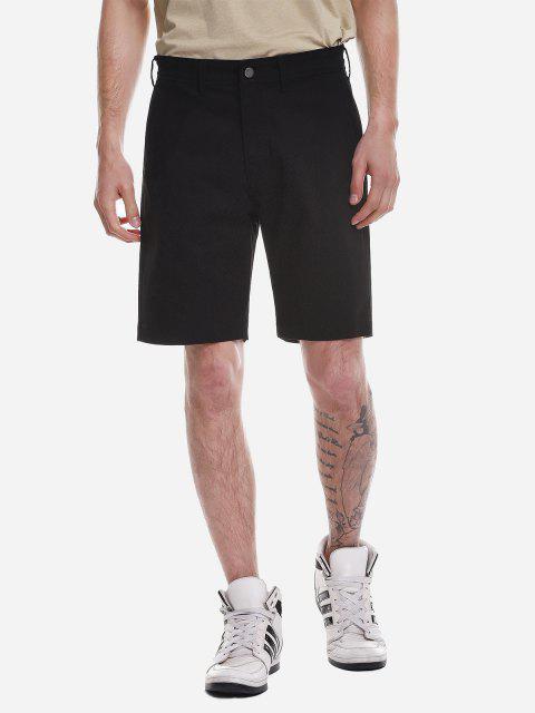 ZANSTYLE Pantalones Cortos con Cremallera - Negro 32 Mobile