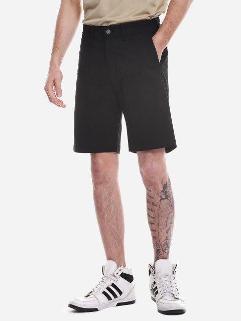 ZANSTYLE Pantalones Cortos con Cremallera - Negro 33 Mobile