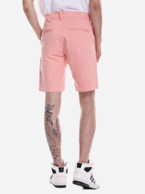 ZANSTYLE Pantalones Cortos con Cremallera - Naranja Rosa 34 Mobile