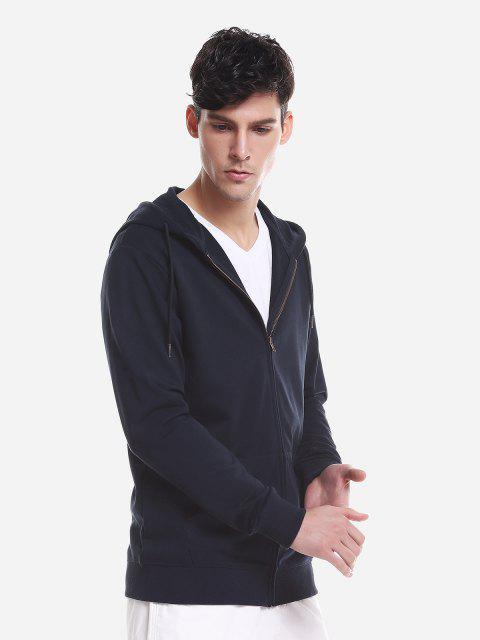 ZAN.STYLE Pocket Hooded Sweatshirt - 深藍 3XL Mobile