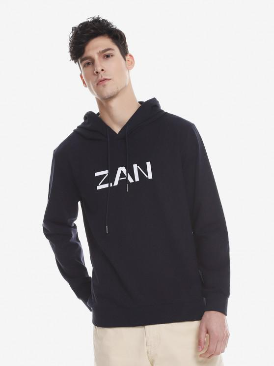 shops ZAN.STYLE Sport Casual Pullover Hoodie - ROYAL 2XL