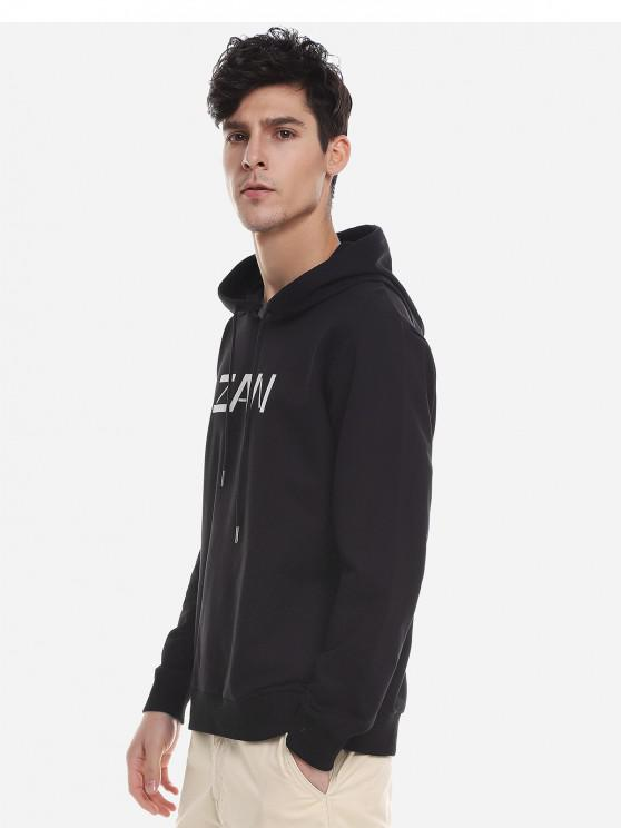 fashion ZAN.STYLE Sport Casual Pullover Hoodie - BLACK 2XL
