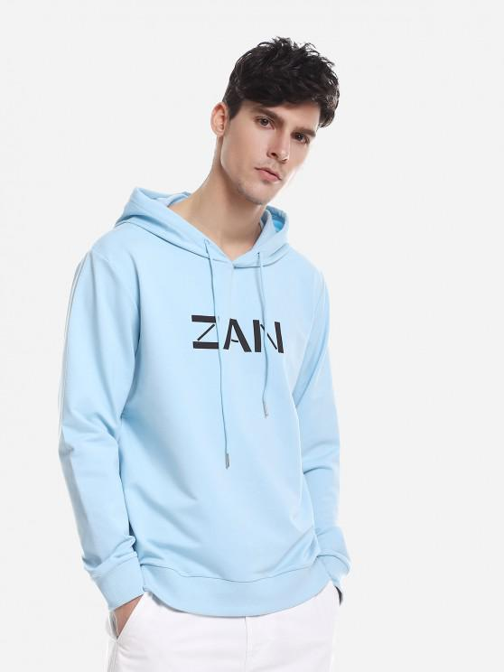 chic Sport Casual Pullover Hoodie - BLUE XL