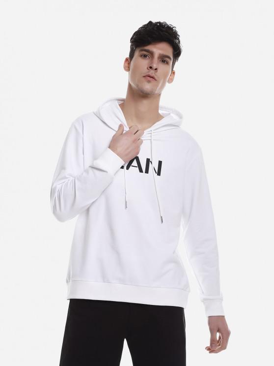 ZAN.STYLE Moletom Com Capuz Casual Esporte - Branco XL