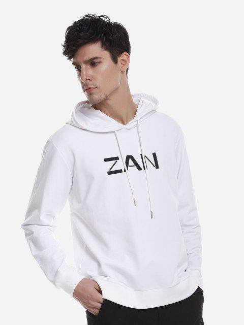 ZAN.STYLE Sport Casual Pullover Hoodie - 白色 2XL Mobile