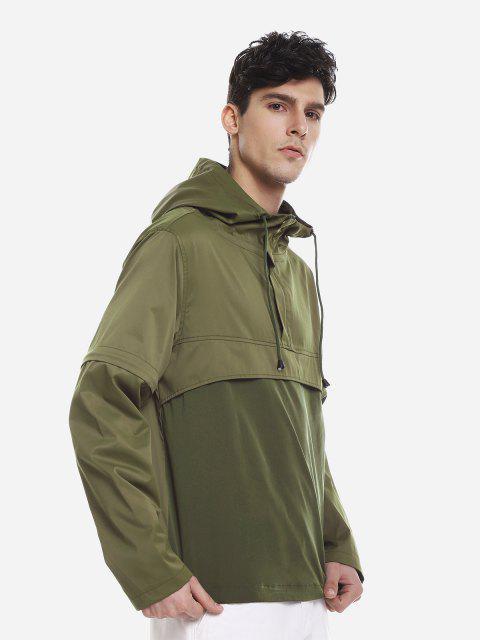 outfit ZAN.STYLE Spliced Windbreaker Jacket - GREEN XL Mobile