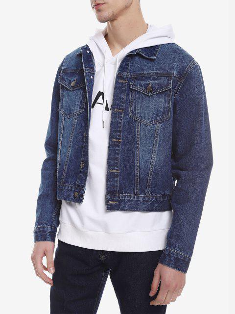 BlousonDélavé en Jean - Bleu XL Mobile