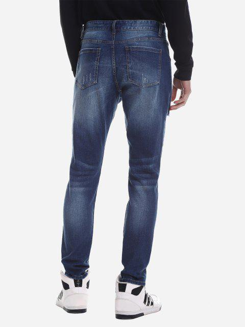 sale ZAN.STYLE Ripped Faded Skinny Jeans - BLUE 38 Mobile