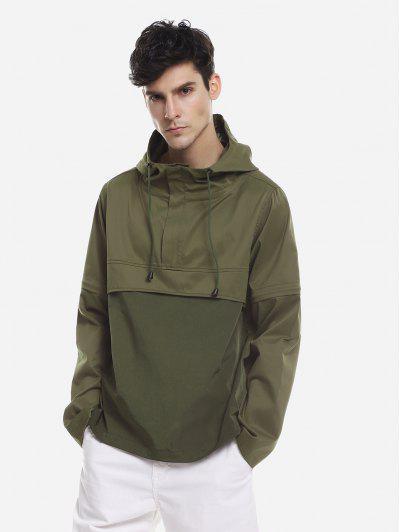 ZAN.STYLE Spliced Windbreaker Jacket - Green 2xl