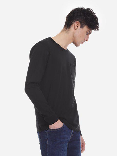 ZANSTYLE Camiseta Manga Larga con Cuello Redondo para Mujer - Negro XL Mobile