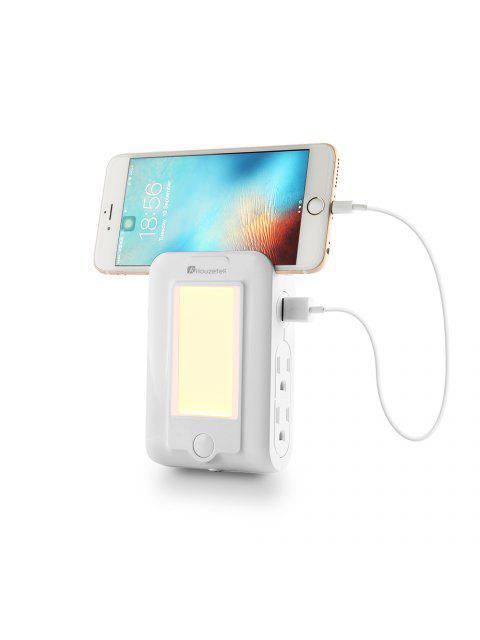 Houzetek montaje en pared USB cargador LED sensor noche luz - Blanco  Mobile