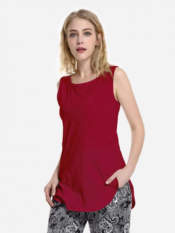 outfit ZAN.STYLE Round Neck Tank Top - RED M