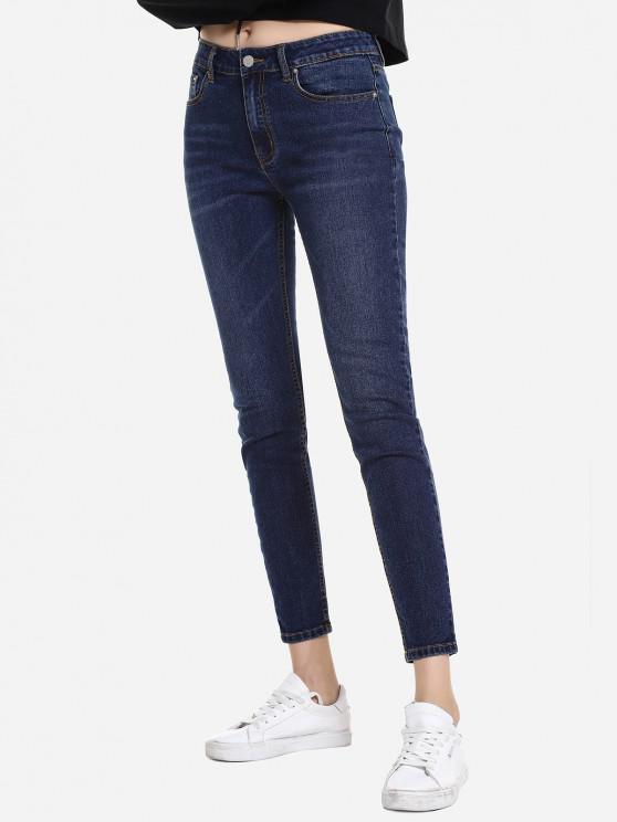 womens ZAN.STYLE Washed Jean - BLUE S