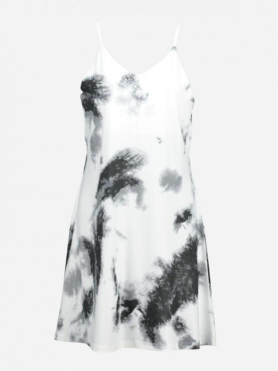 best V Neck Causal Slip Dress - STONE BLUE XL