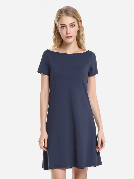ZANSTYLE Dolman Gonna di T-Shirt - Profondo blu L