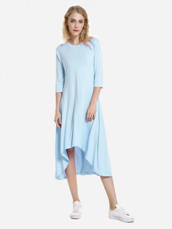 womens ZAN.STYLE High Low Hem Dress - WINDSOR BLUE M