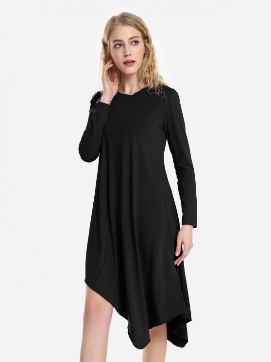 ZAN.STYLE Long Sleeve Dress - 黑色 L