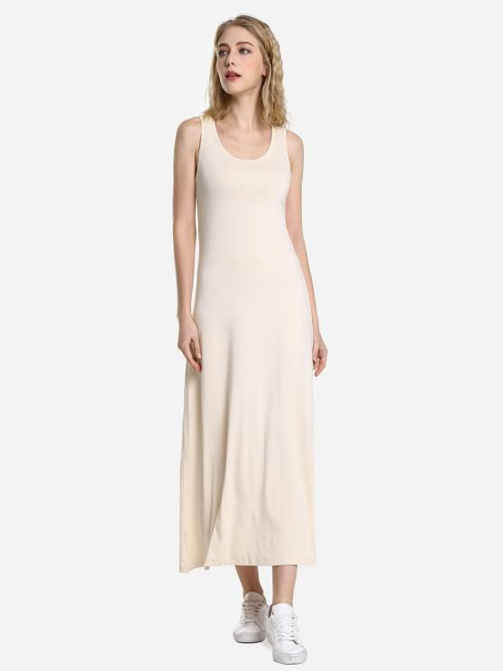 ZAN.STYLE Round Neck Vest Dress - مشمش L