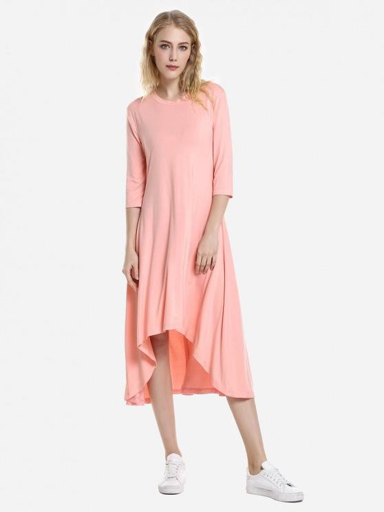 Robe à Ourlet Haut Bas - Orange Rose M