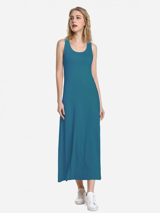 buy ZAN.STYLE Round Neck Vest Dress - BLUE M