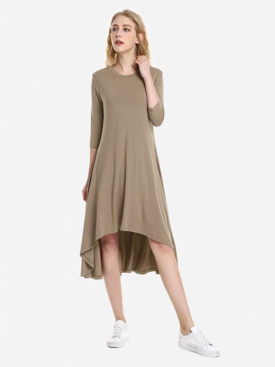 ZAN.STYLE alta vestido Low Hem - Cappuccino XL