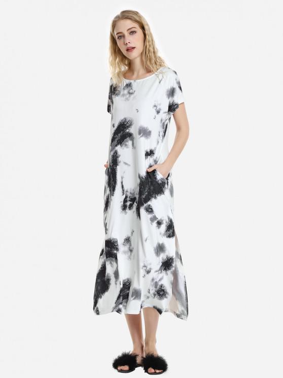 ZAN.STYLE Batwing платье рукавом - синий камень XL