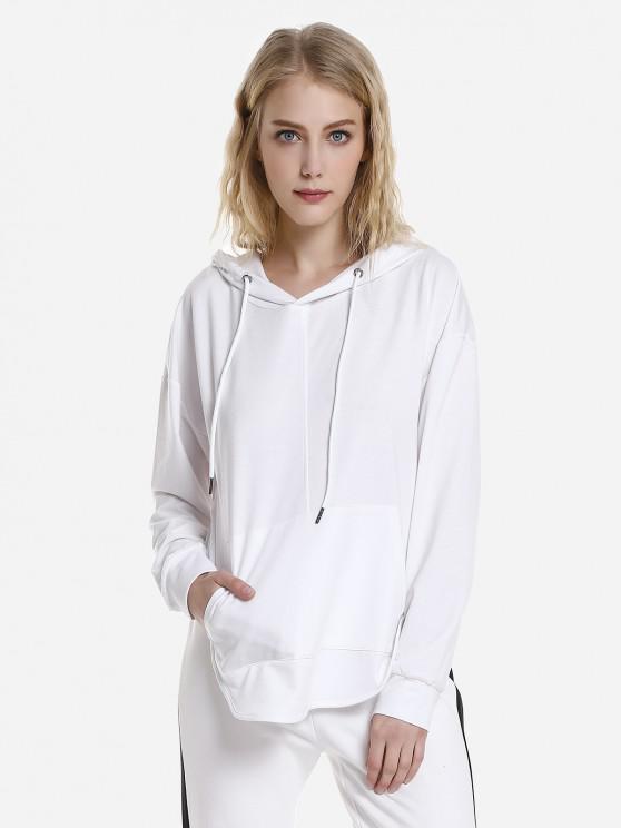 ZANSTYLE Sudadera Blanca con Capucha y Espalda para Mujer - Blanco L