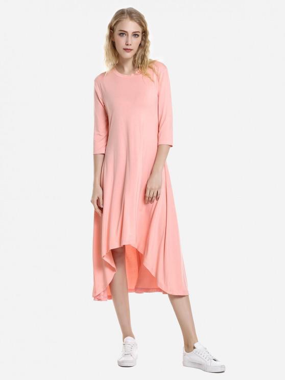 women ZAN.STYLE High Low Hem Dress - ORANGEPINK XL