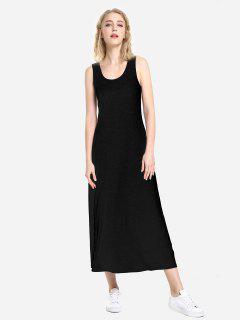 ZAN.STYLE Round Neck Vest Dress - Black Xl