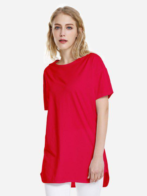 shops ZAN.STYLE Dolphin Hem Tee - BRIGHT RED L Mobile