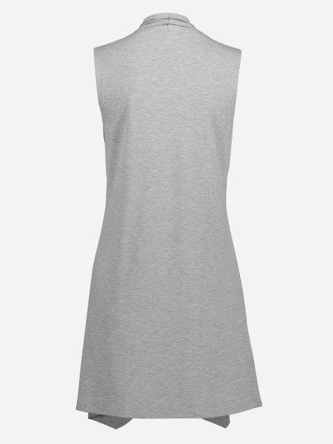 Vest con Apertura Frontale Senza Maniche Aperto Davanti - Grigio Chiaro S Mobile