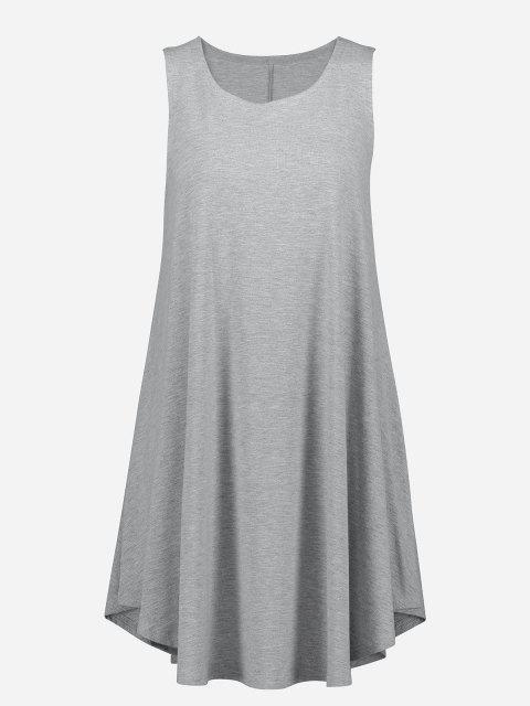 ZAN.STYLE Sleeveless Swing Tunic Dress Tank Top - 淺灰 S Mobile