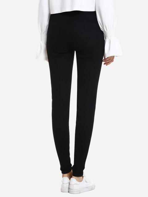 ZAN.STYLE Slim Stretchy Pencil Pants - Noir S Mobile