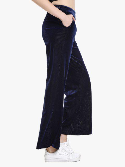 outfit ZAN.STYLE Pleuche Pant - PURPLISH BLUE M Mobile