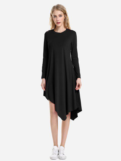 latest ZAN.STYLE Long Sleeve Dress - BLACK XL Mobile
