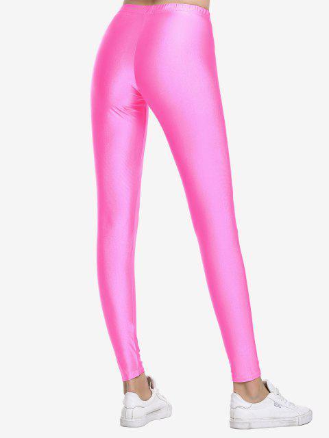 ZAN.STYLE altura de la cintura polainas - Rosa Roja S Mobile