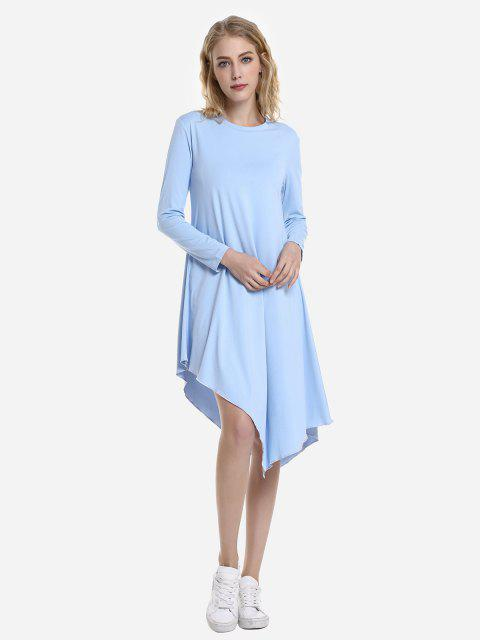 latest ZAN.STYLE Long Sleeve Dress - WINDSOR BLUE M Mobile