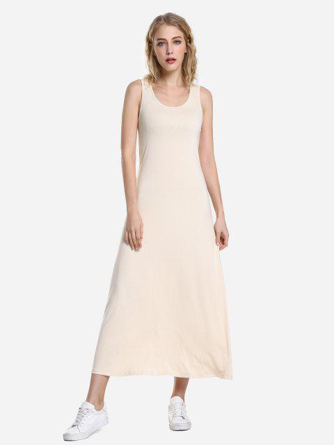 hot ZAN.STYLE Round Neck Vest Dress - APRICOT L Mobile
