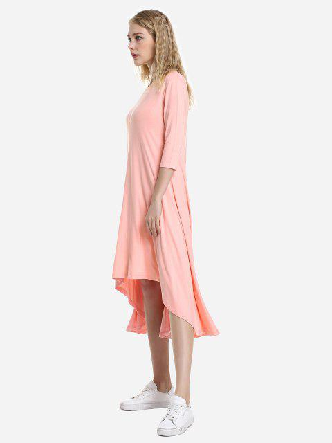 ZAN.STYLE High Low Hem Dress - Orangepink M Mobile