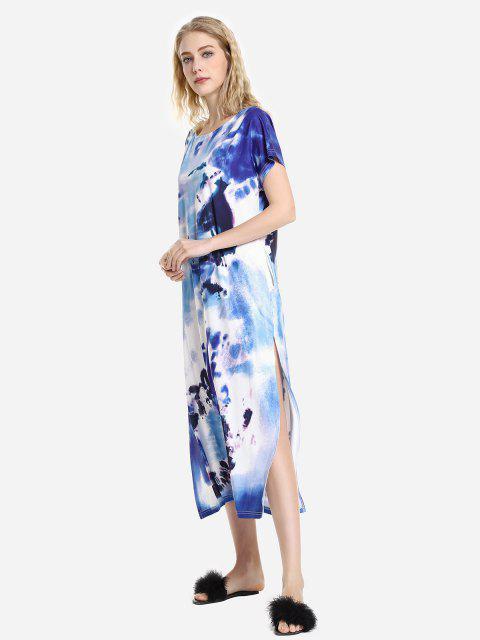best ZAN.STYLE Batwing Sleeve Dress - BLUE S Mobile