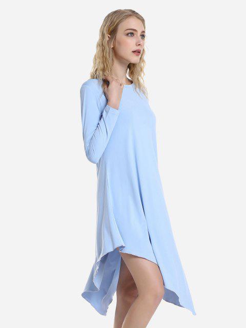 hot ZAN.STYLE Long Sleeve Dress - WINDSOR BLUE L Mobile