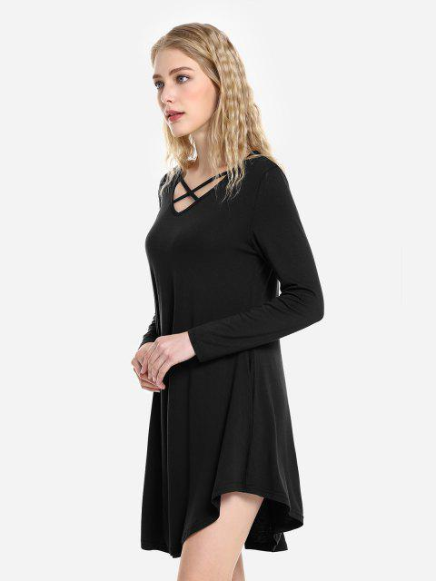 outfit ZAN.STYLE Swing Dress - BLACK L Mobile