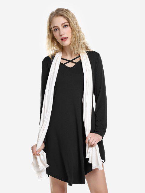 Vestito Longuette Floreale - Nero L Mobile