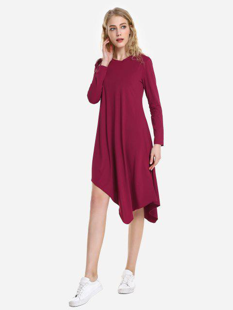 sale ZAN.STYLE Long Sleeve Dress - WINE RED S Mobile