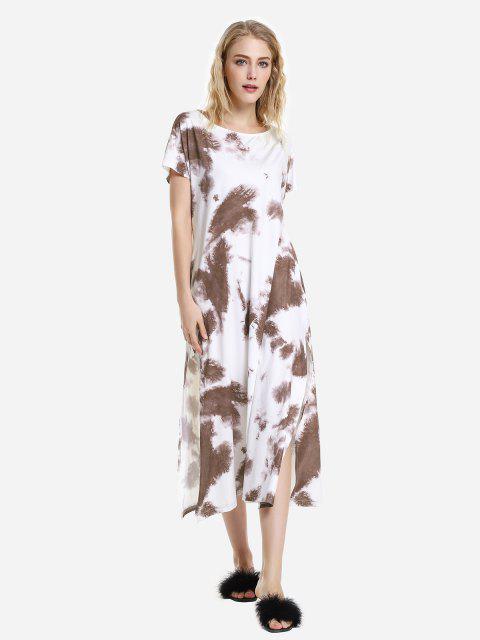 hot ZAN.STYLE Batwing Sleeve Dress - REDDISH BROWN HIGHLIGHT XL Mobile