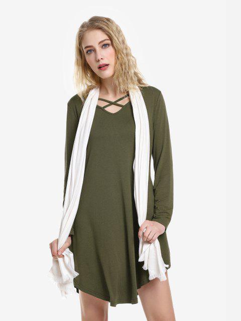 ZAN.STYLE Swing Dress - 軍綠色 L Mobile