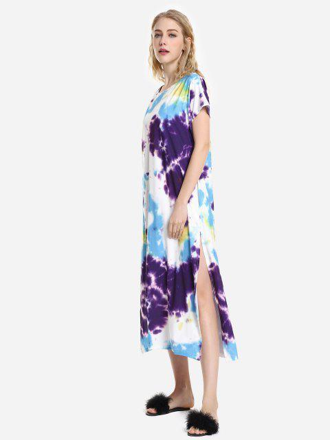 online ZAN.STYLE Batwing Sleeve Dress - PURPLE S Mobile