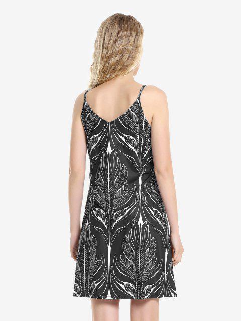 ZAN.STYLE cuello en V Causal Slip vestido - Negro S Mobile