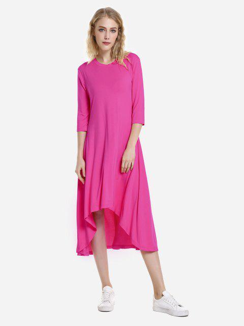 affordable ZAN.STYLE High Low Hem Dress - TUTTI FRUTTI XL Mobile